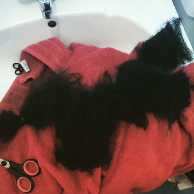 My hair after I had cut it